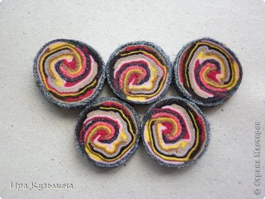 Камни самоцветы из ткани