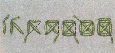 Счётные швы. Двусторонний тамбовский крест