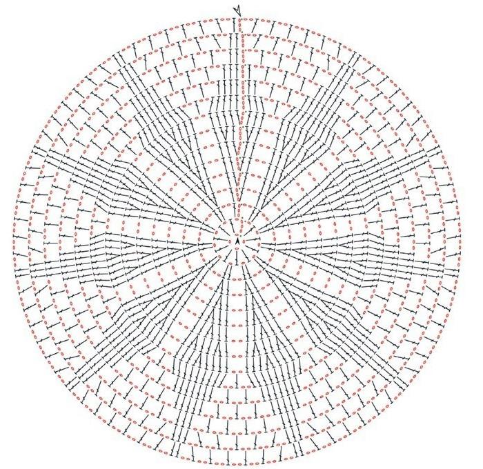 ажурные коврики крючком схемы и описание