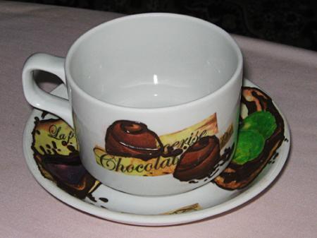 Декупаж на фарфоре «Шоколадная страсть»