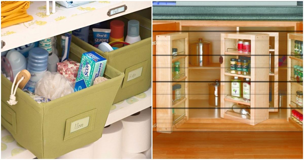 Дизайнерские хитрости: 20 идей, которые помогут любой хозяйке навести порядок в доме