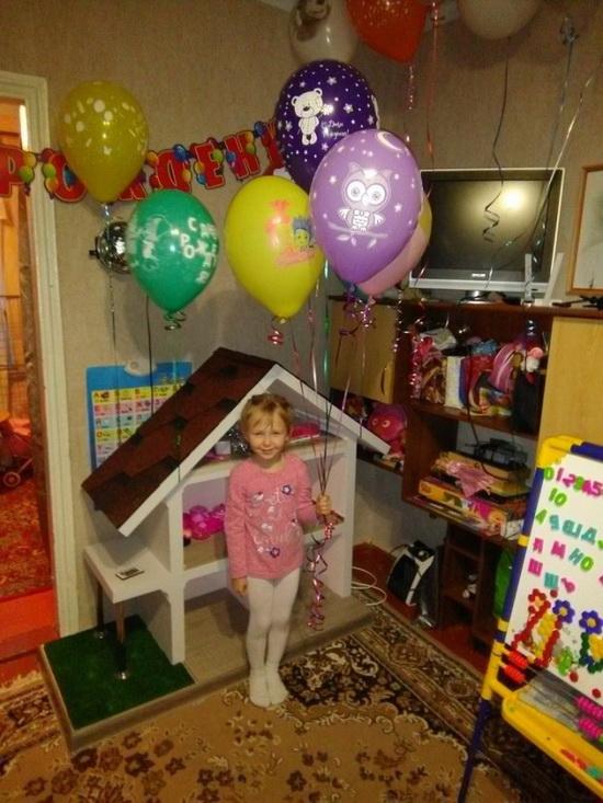 Самодельный домик для кукол …
