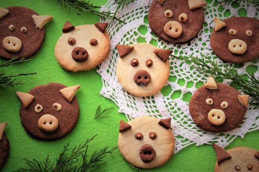 Новогоднее печенье - готовим свинок
