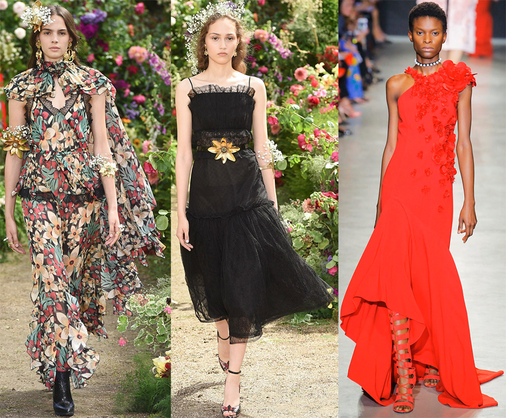Все благородство цветов для украшения нарядов в модных коллекцияхн лета 2018