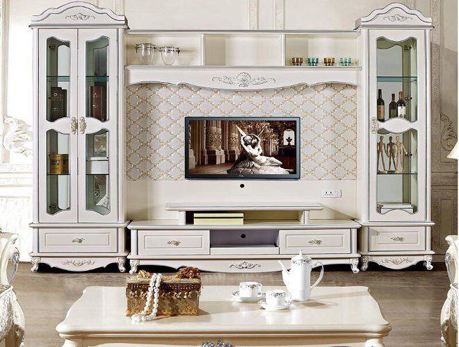 гостиная современная классика стенка телевизор