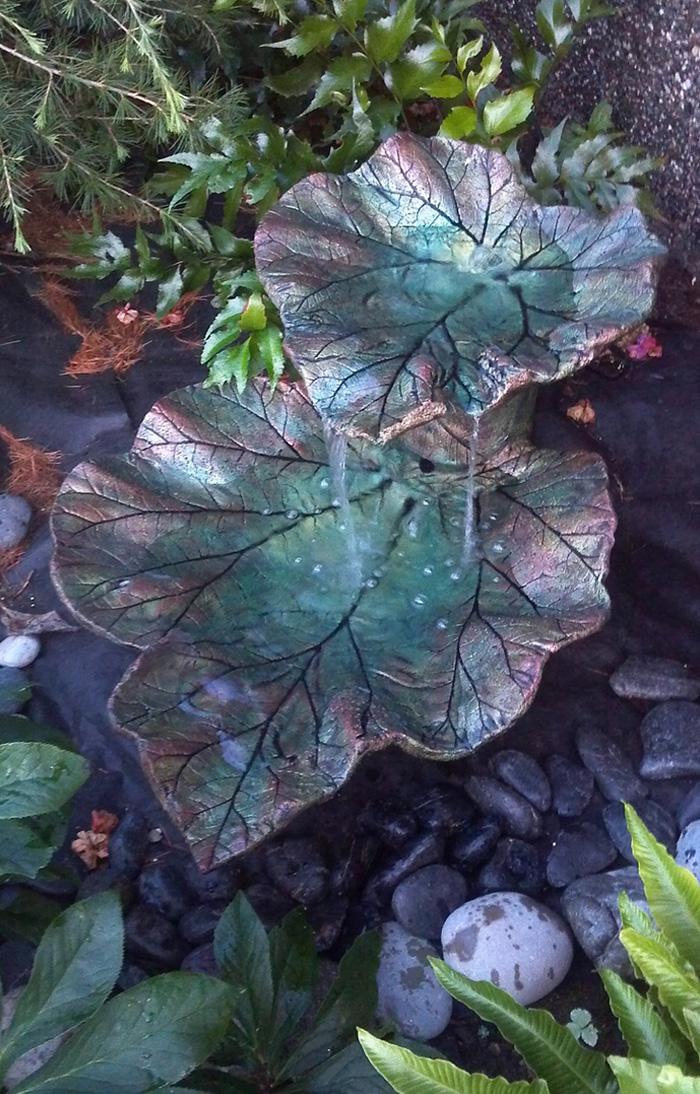 Листья из бетона для сада своими руками 39