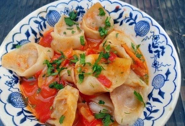 Узбекские чучварики — необычные пельмени с соусом