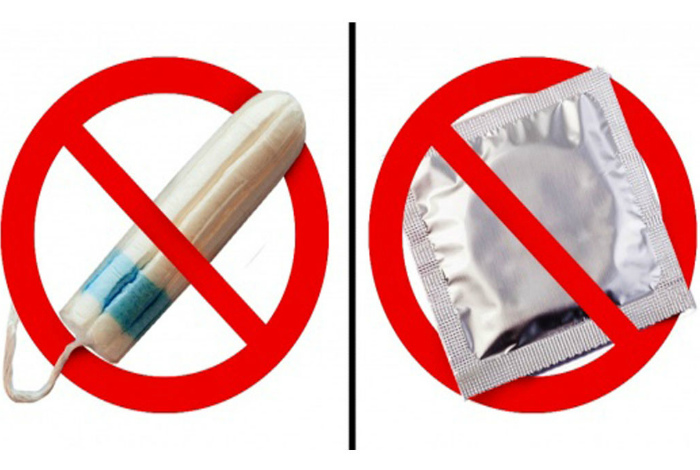 Нельзя купить тампоны и презервативы.