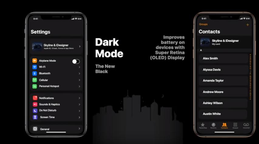 Дизайнеры показали на видео новую версию iOS с необычной темной темой