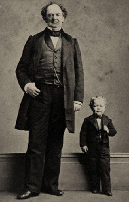 Большую часть своей жизни Чарльз Страттон был не выше метра ростом.