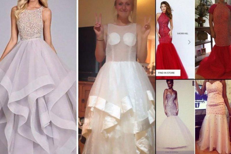 10 девушек, которые заказали платье на выпускной в интернете и пожалели об этом выпускной, мода, одежда, платье, прикол, товар, юмор