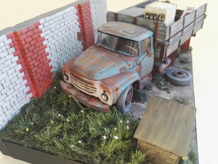 Грузовики и спецтехника в миниатюре стендовый моделизм, Диорама, длиннопост, грузовик