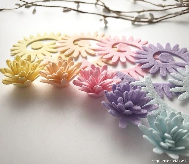Шаблоны цветов из фетра
