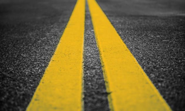 Жёлтая разметка уже появилась на дорогах России