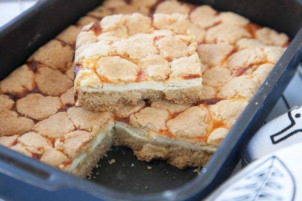 Мозаичный творожный пирог