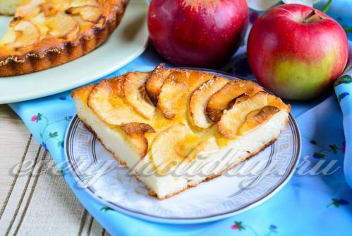 Запеканка творожная с манкой в духовке с яблоками рецепт