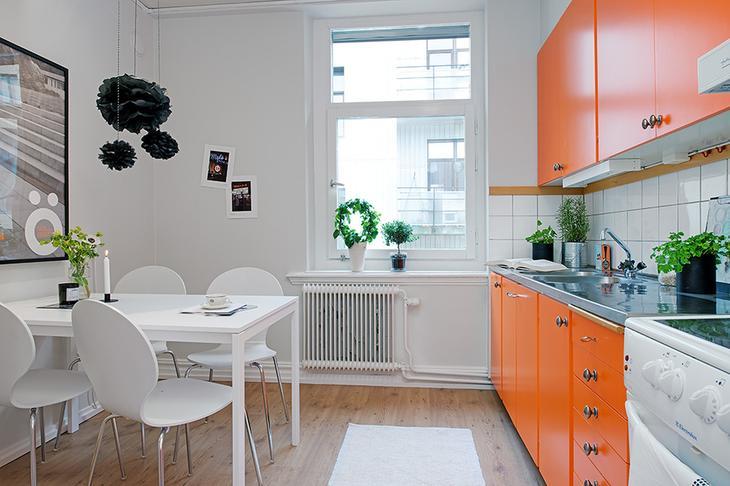 Дизайн оранжевой кухни: 25 стильных вариантов