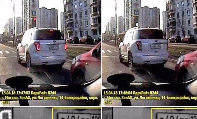 Автомобилистка, ожидавшая зеленый сигнал светофора, получила штраф за неправильную парковку