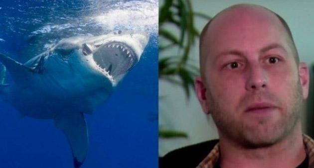 Акула кинулась на человека, но в результате спасла ему жизнь