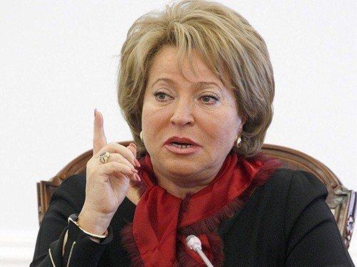 Матвиенко: мы ответим западу серьезно, россияне от этого никак не пострадают