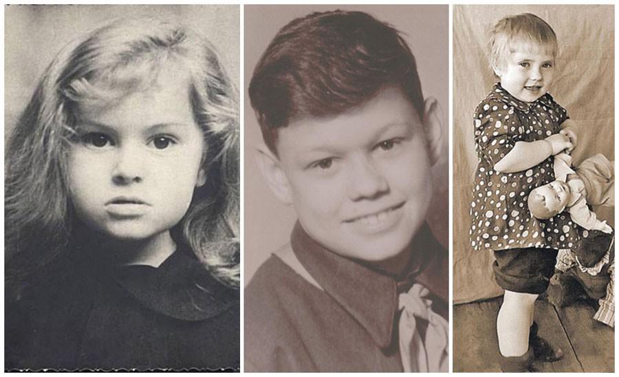 Знаменитости в детстве. Фото из домашних архивов