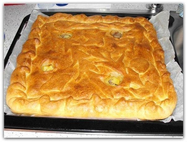 Вкусный и простой пирог с картофелем и курицей — Готовится в считанные минуты!
