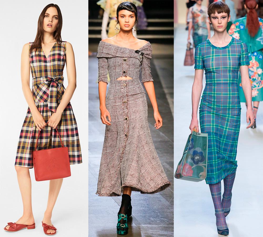 Модные платья в клеточку