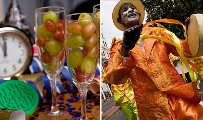 Странные новогодние ритуалы в разных странах, которые приносят счастье