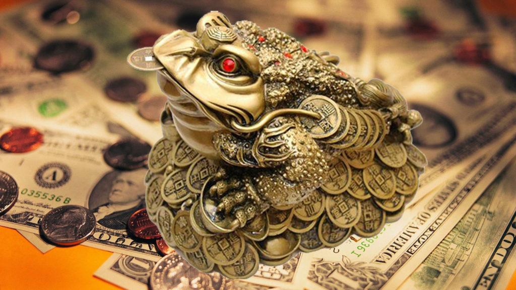 Жаба, производящая биткоины для Буратин