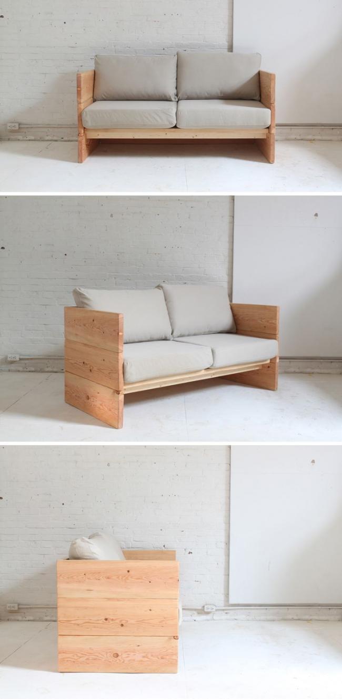 Старая мебель: фото - Вариант полной замены былец дивана на листы фанеры