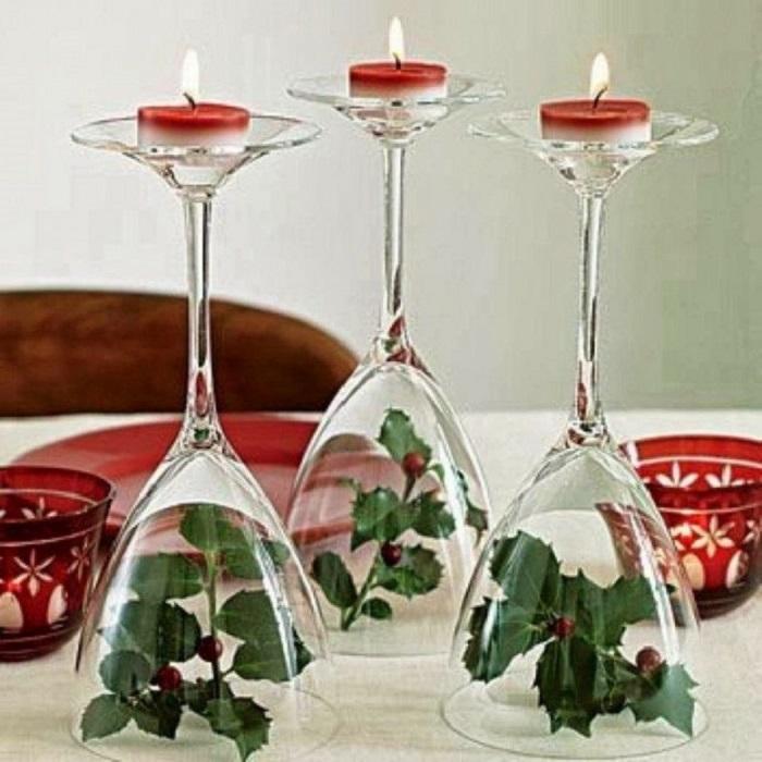 Если в доме есть разрозненные бокалы или фужеры, я использую их именно так!