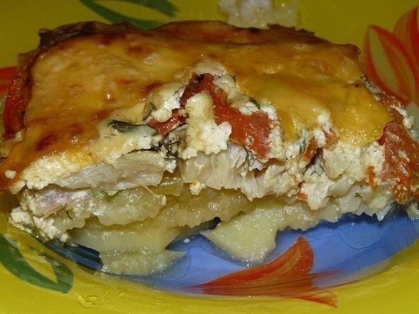 Вкусная запеканка картофельная с рыбкой