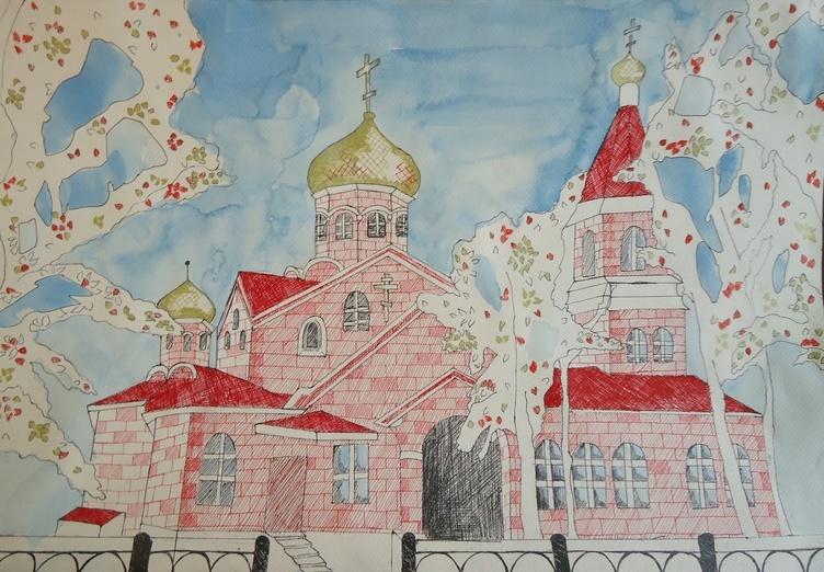 Дети рисуют храмы