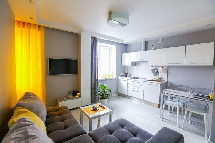 Дизайн интерьера однокомнатная квартира 35 кв м с отдельной кухней фото