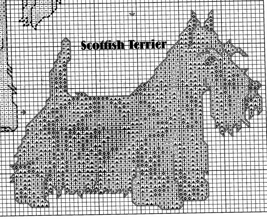 стаффордширский терьер вышивка