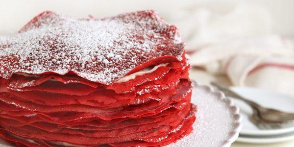 Как приготовить блинный торт «Красный бархат» со сливочно-творожным кремом