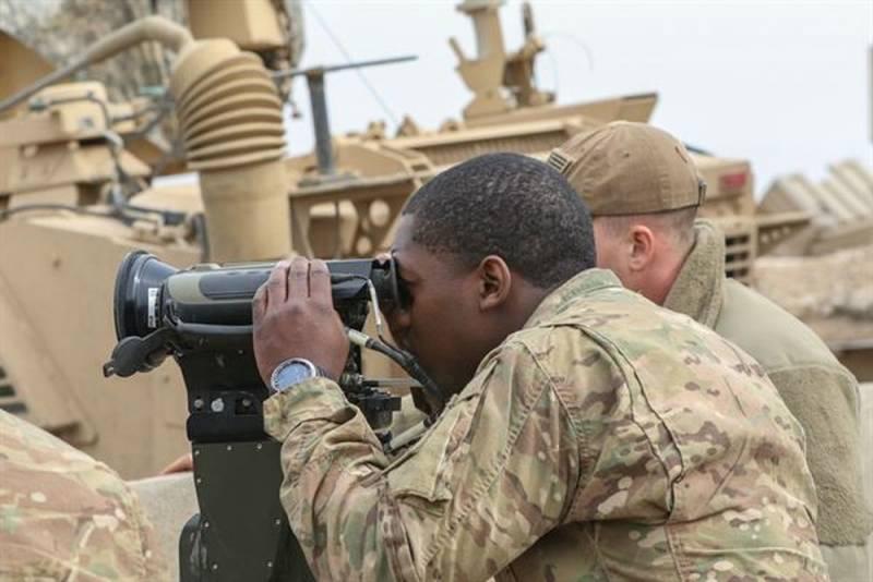 Колонна боевой техники США в…