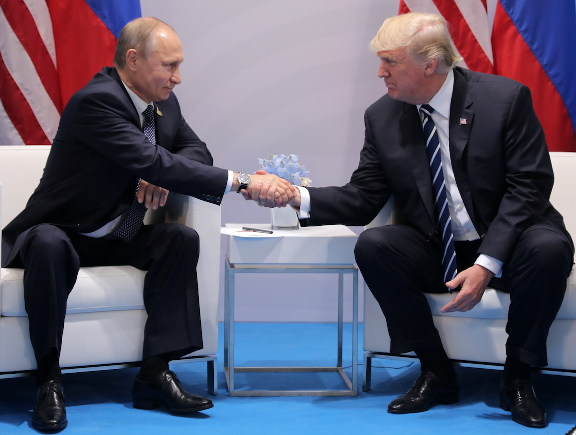 В Гамбурге завершилась встреча Путина и Трампа. Она продлилась больше двух часов