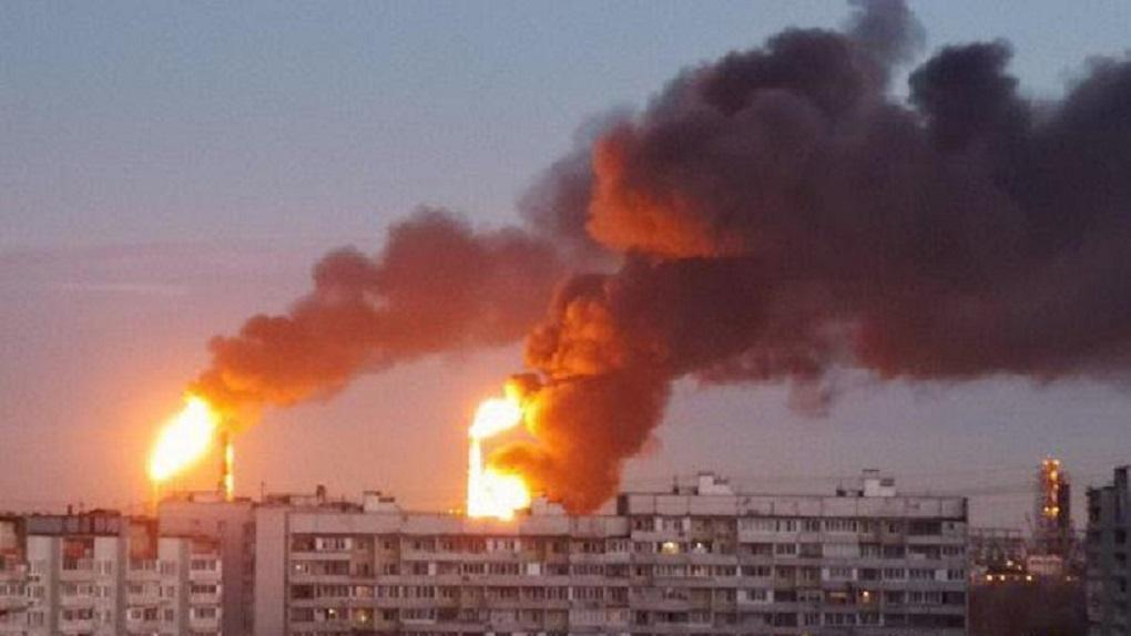 В Москве загорелся нефтепере…