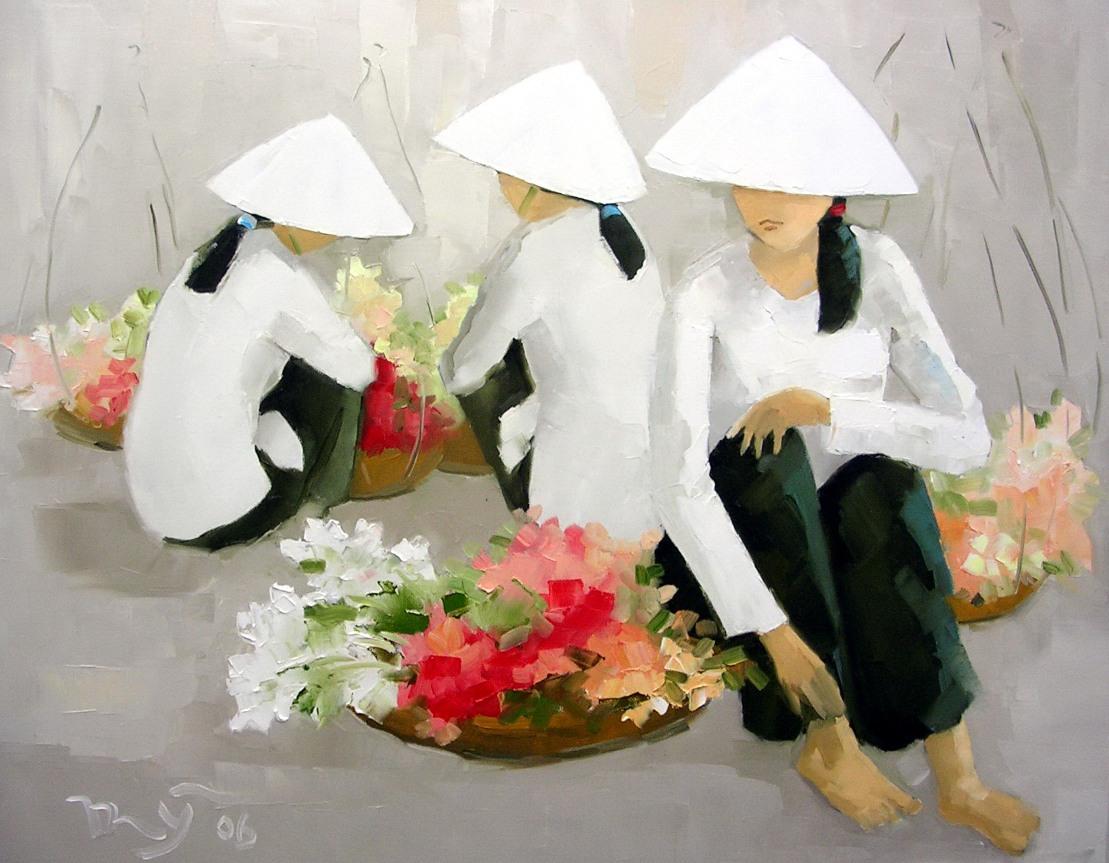 Восточный ветер и весенний аромат... Вьетнамская художница Ha Huynh My