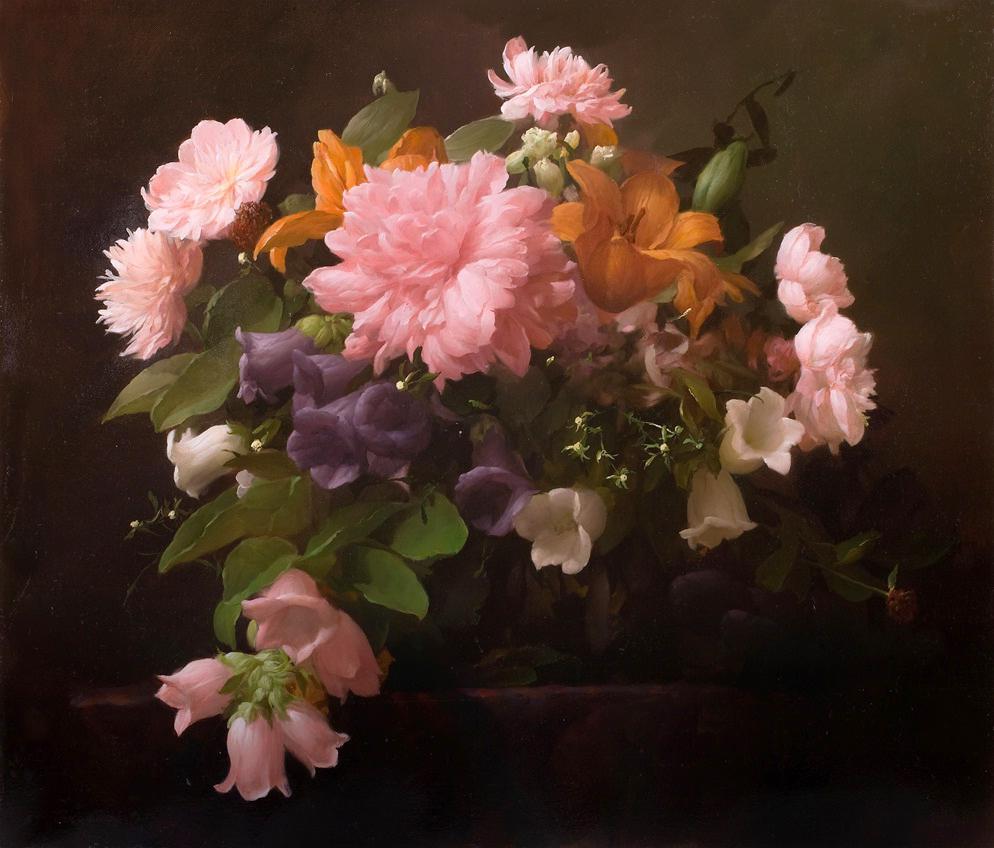 Цветы благоухают для души, и потому безумно хороши... Художник Дмитрий Севрюков