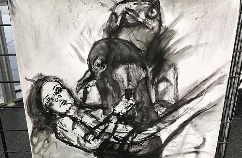 Картины изображающие ритуальное насилие выставлены в здании суда в Лас-Вегасе! Что это значит...
