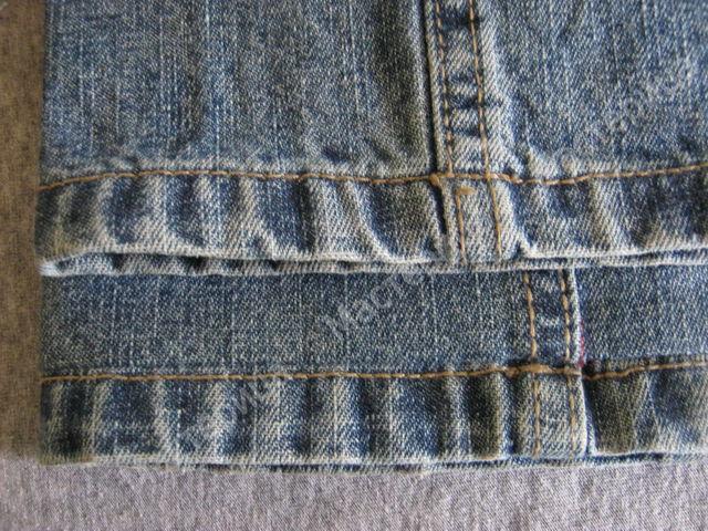 Подшиваем джинсы с сохранением фабричного шва 10