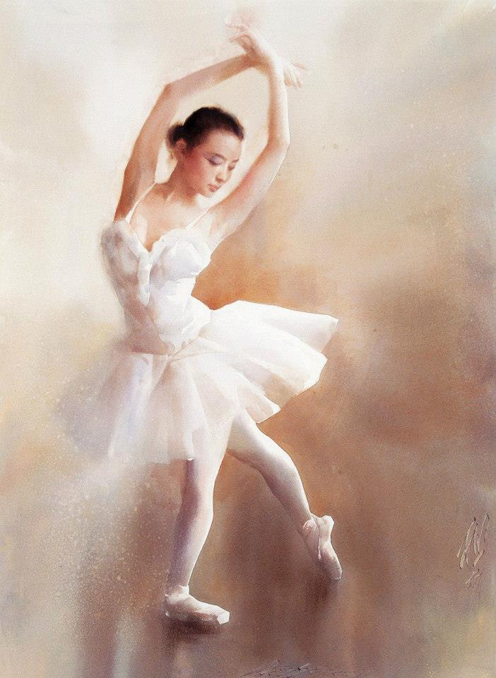 Liu Yi - Ballet dancer, watercolor