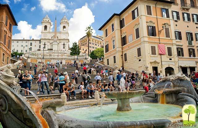 Испанская лестница в Риме - 138 ступеней восторга - 10