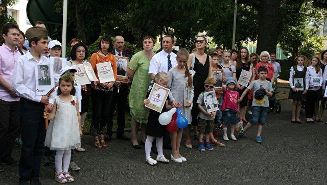 «Бессмертный полк» собрался в посольстве РФ в Токио