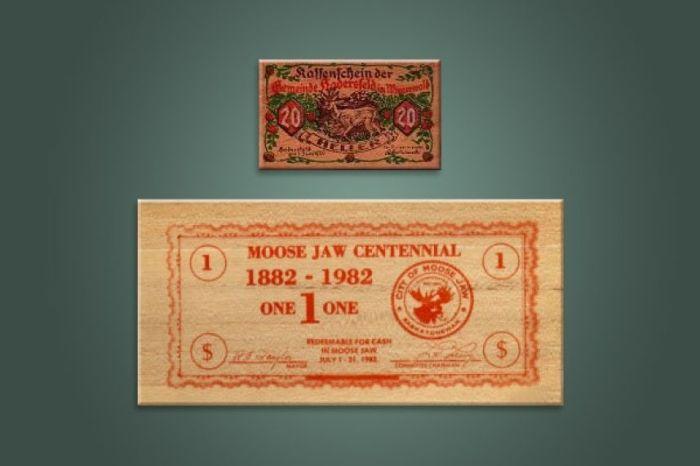 Деревянные деньги./Фото: hsl.guru