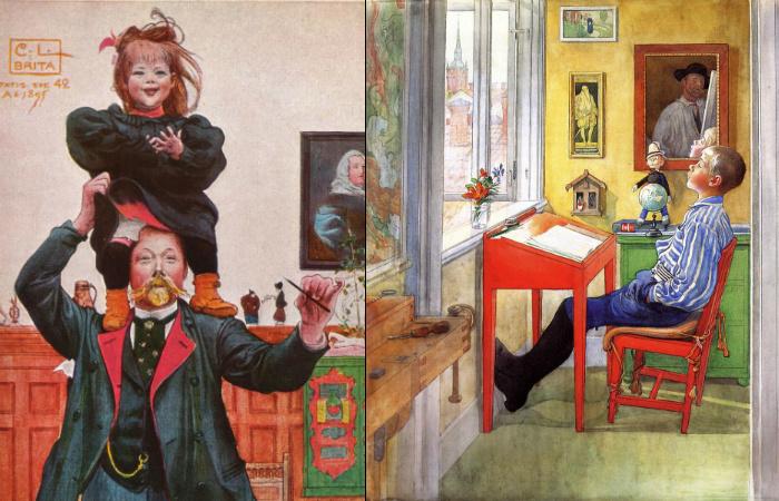 История художника, который рисовал своих дочек и смог создать скандинавский стиль интерьеров задолго до «ИКЕА»