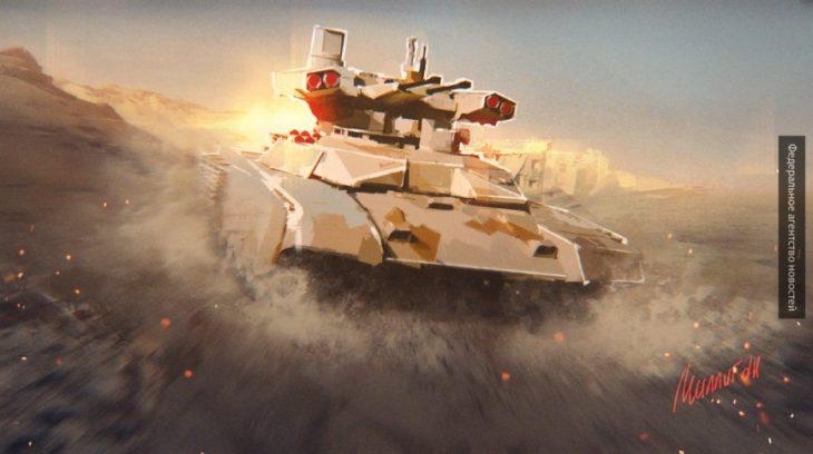 Будущее российской армии — беспилотный танк с электромагнитной пушкой и лазером