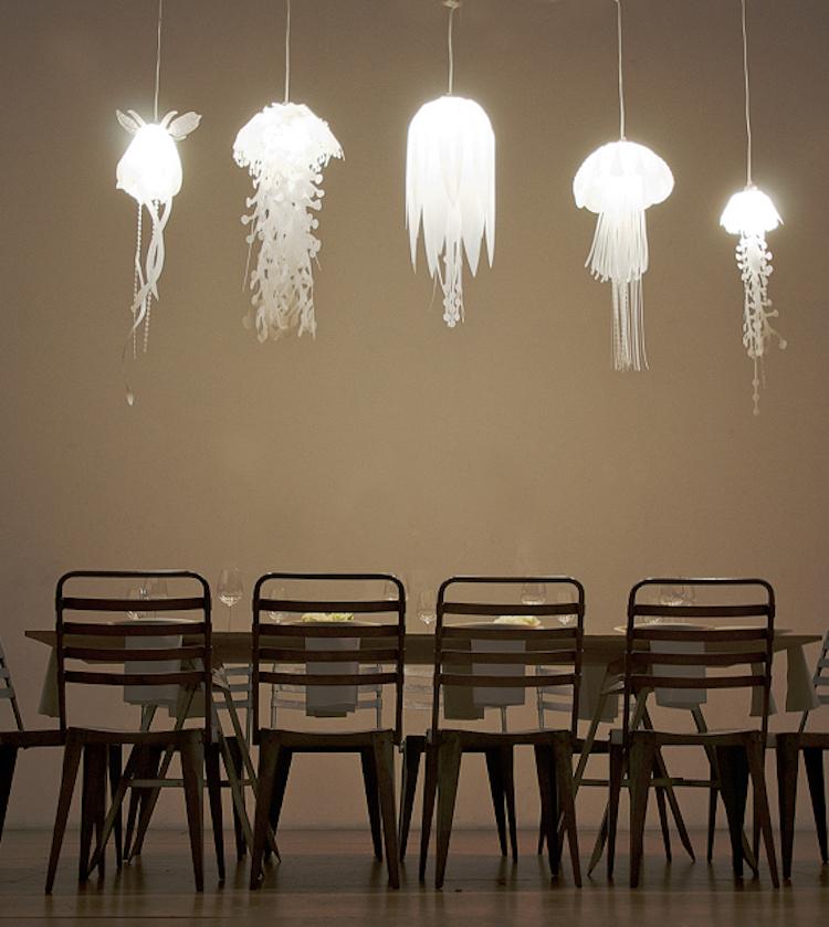 nature-inspired furniture roxy russell medusae lamps lighting